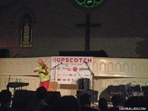 Tony Conrad performing at Hopscotch 2014 in Raleigh, NC